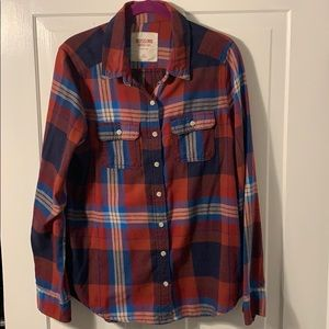 Target Mossimo Button Up Flannel- Size L